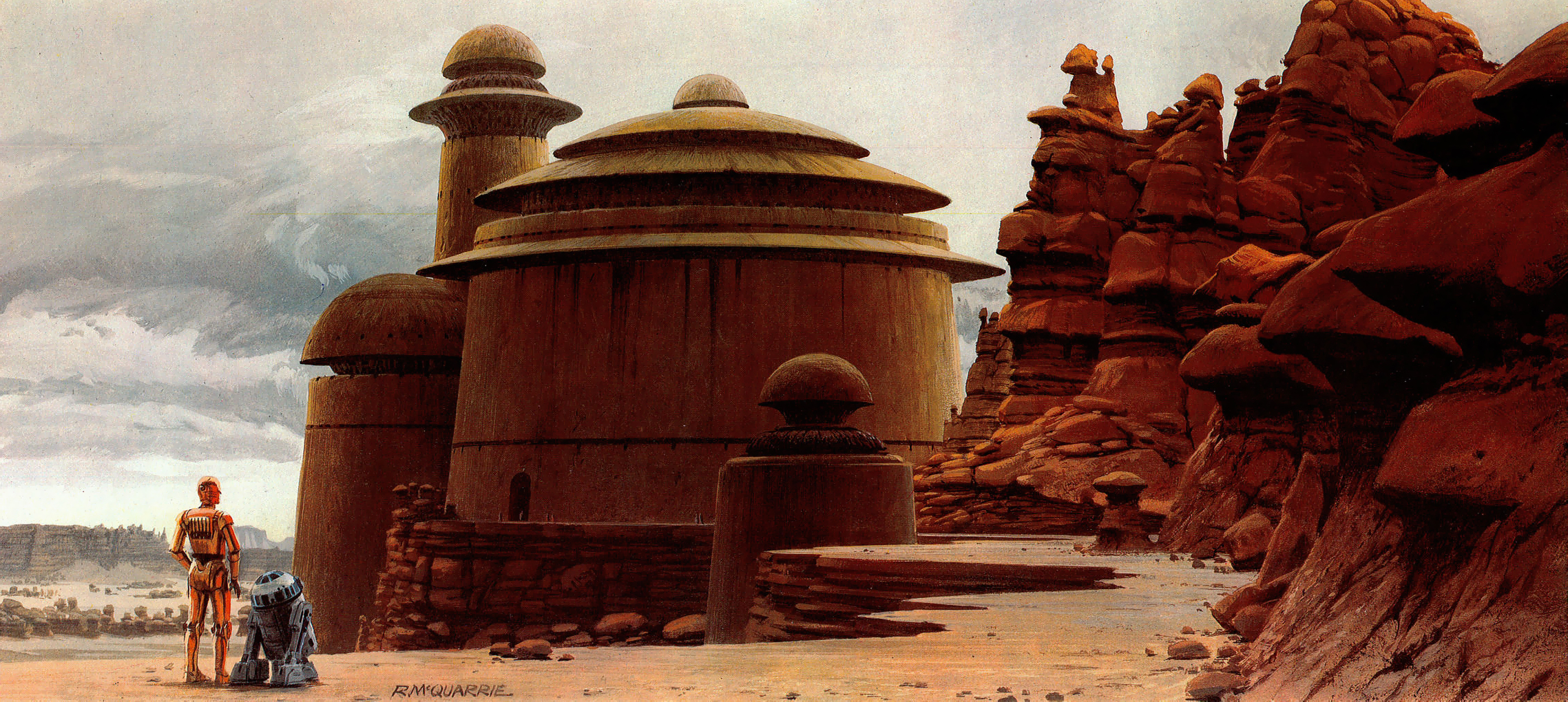 Concept art by Ralph McQuarrie of Jabba's Palace