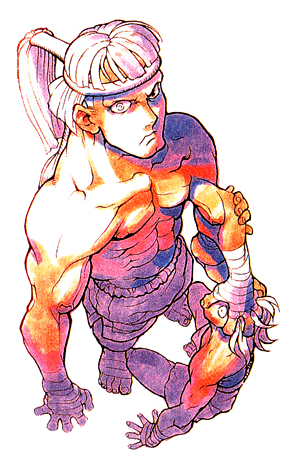 One of Blanka's alternate costumes in Street Super Fighter ...