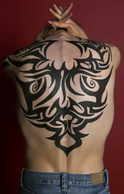 Back Tribal Tattoo