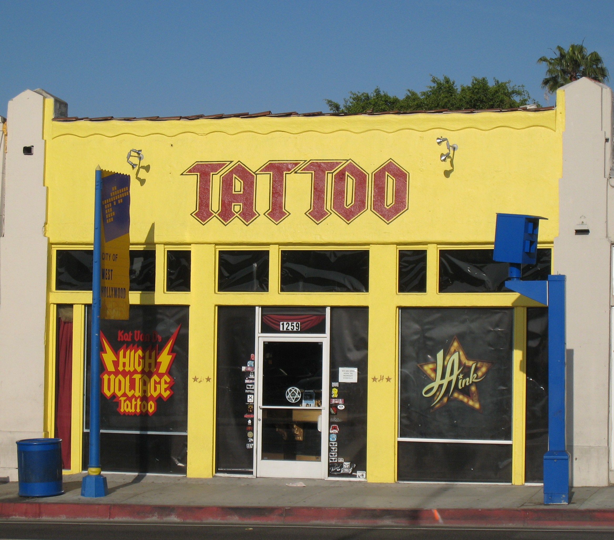 high voltage tattoo shop
