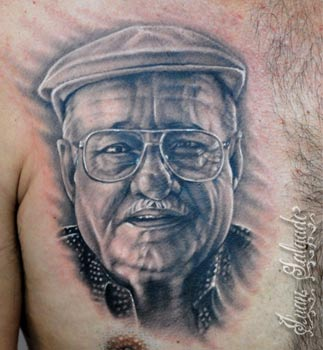 ... can you show me some really good portrait tattoos for dead loved ones