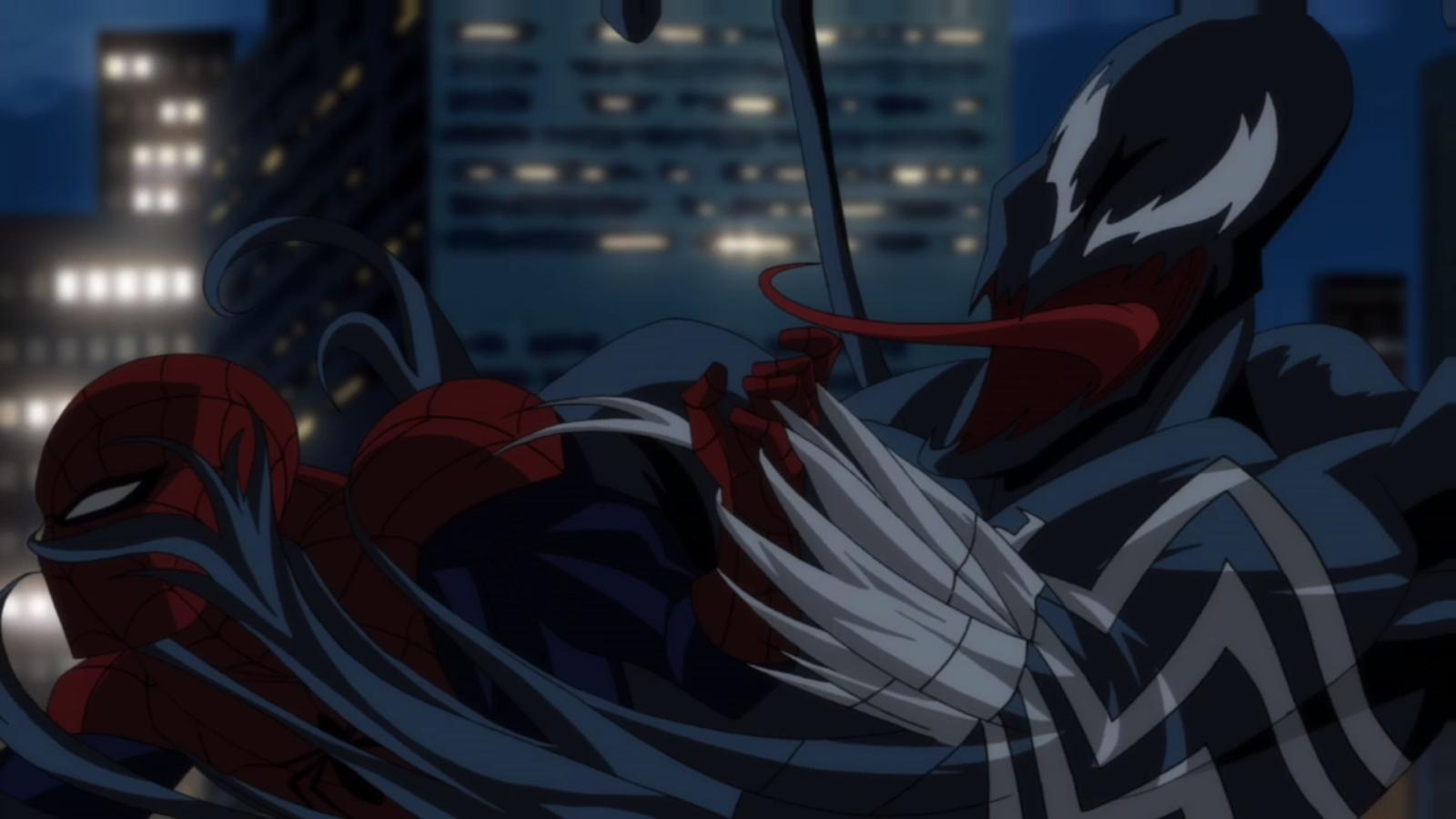 File Spider-Man fighting off Venom pngUltimate Venom Spiderman