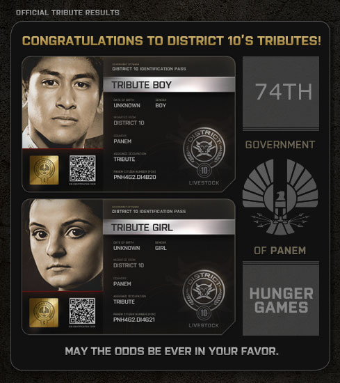 Design Your Own Hunger Games Character