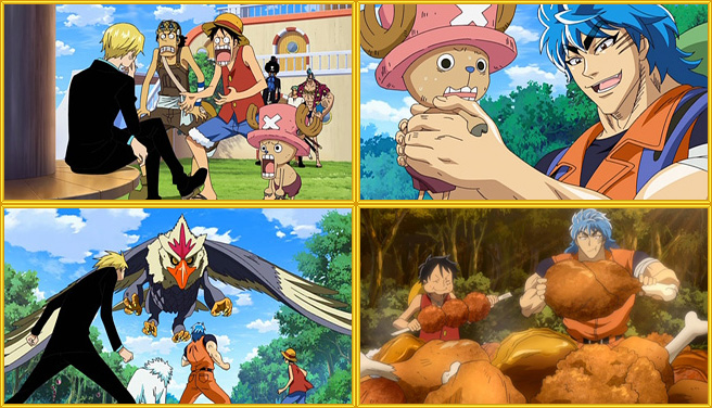 dragon ball one piece crossover. x One Piece Crossover