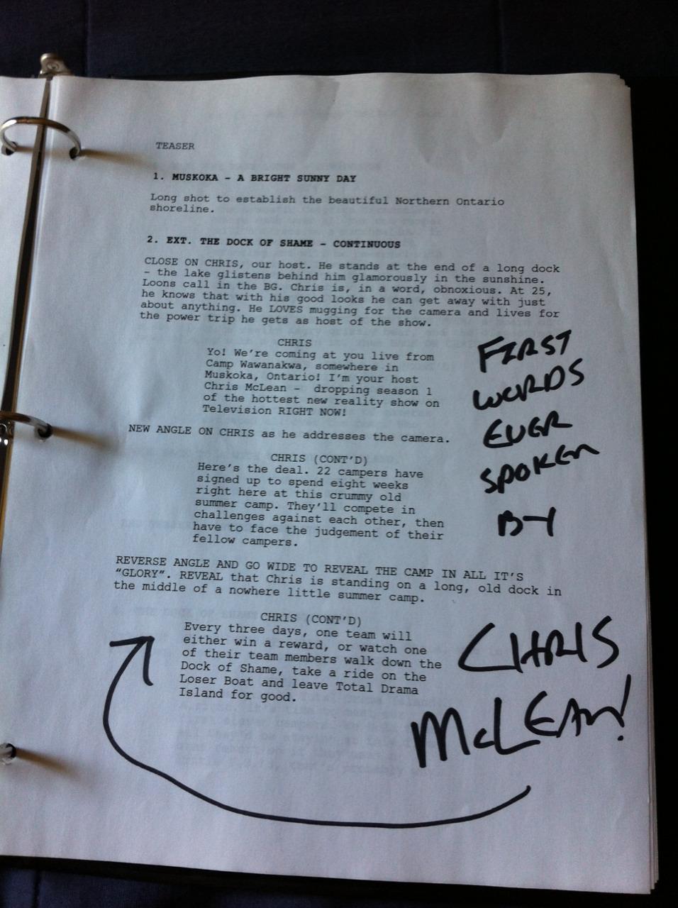 Total Drama World Tour Script