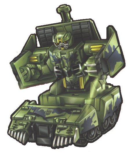 Q&R: Parlons de robots TF | TF sont bio-mécaniques ou mécanique? | Sideshow | Échelle des jouets | etc Brawl-cyber-slammer-boxart
