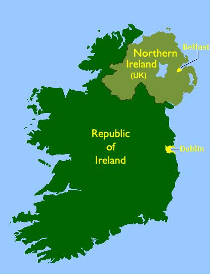 Pictures Of Irelands Map. Ireland