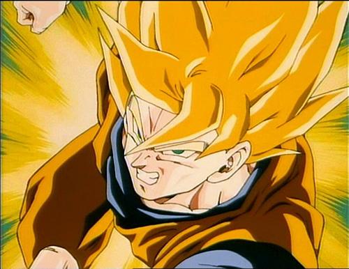 SSJ1 Goku vs SSJ1 Gohan