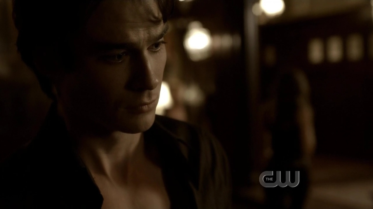 Damon hurt after katherine tells him she never loved him