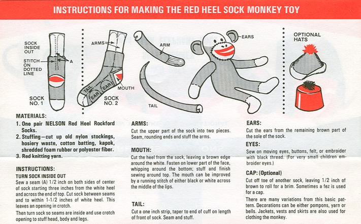 Sock Monkey - DIY Craft Project Instructions