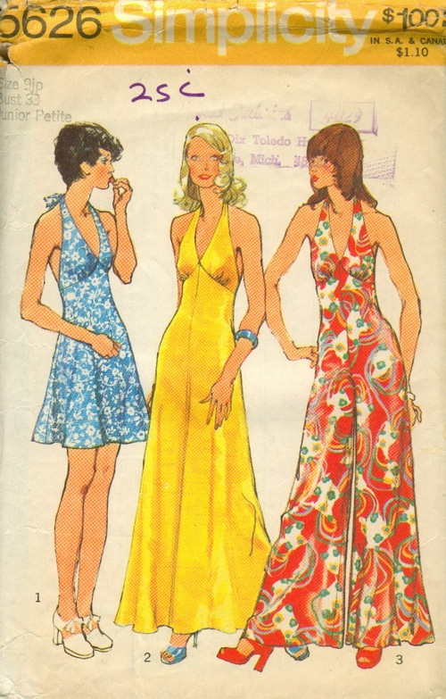 HALTER and V Neck TOPS, Easy To Sew , discontinued Pattern