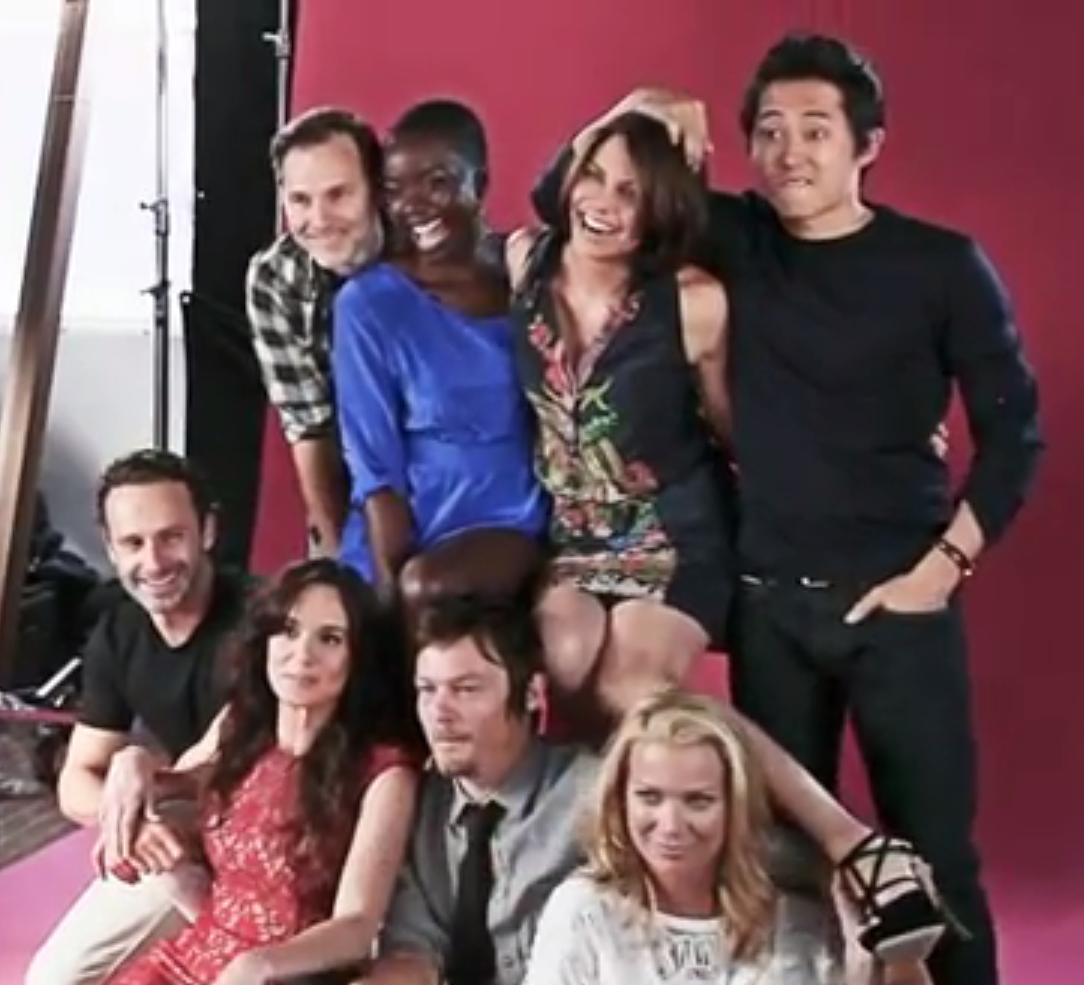 The Cast of Avengers, The Vampire Diaries + More Pose for ... |Lauren Cohan And Steven Yeun 2014