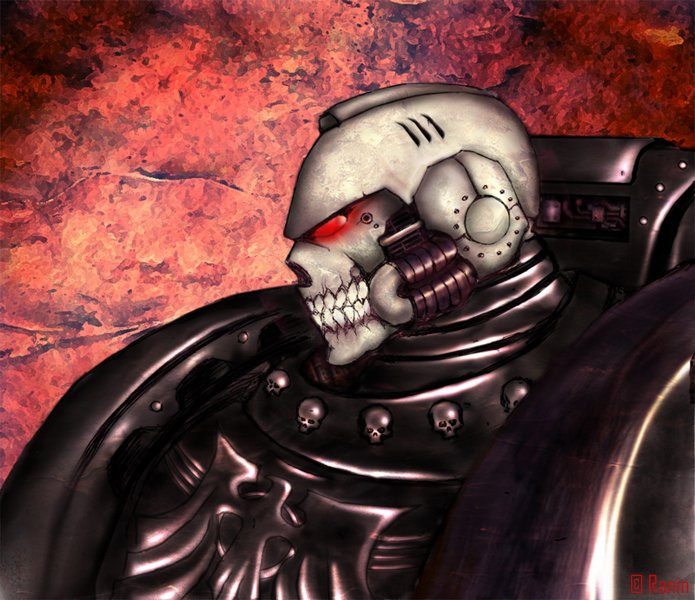 [W40K] Collection d'images : Space Marines Raven_Guard_Chaplain_by_rctdelta20