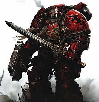 Blood Marines Sergeant from the Warhammer 40k Wiki