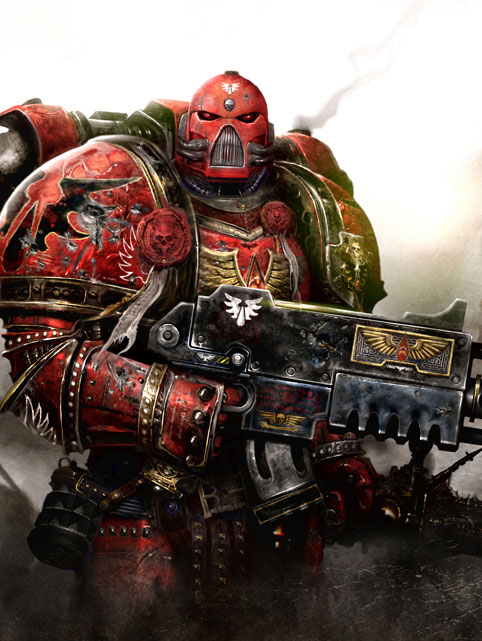 Blood Angels Space Marine from the Warhammer 40k Wiki