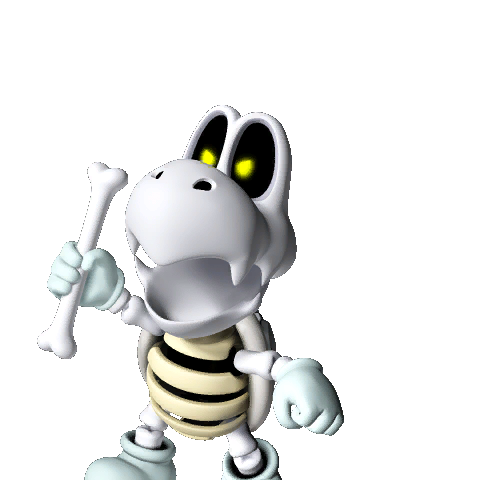 dry bones Dry bones is koopa troopa's skeleton, a driver to the mario kart scene, after appearing as mario's enemy in his many previous adventures he has appeared in mario kart ds and mario kart wii.