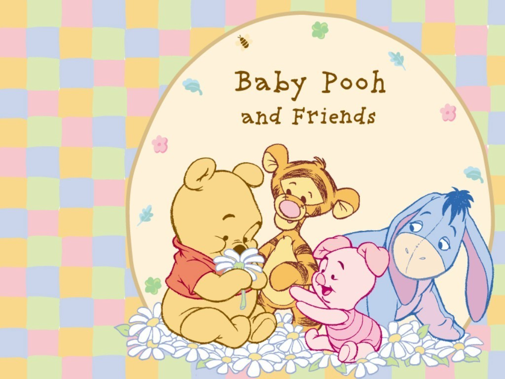 Image - Pooh Wallpaper - Baby Pooh and His Friends.jpg - Winniepedia