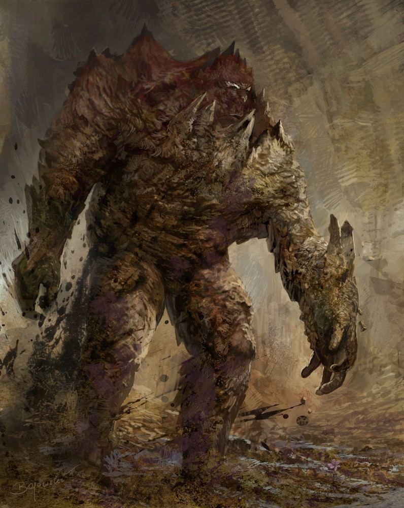 Fire Clay Rock : Image golem conceptart g the witcher wiki