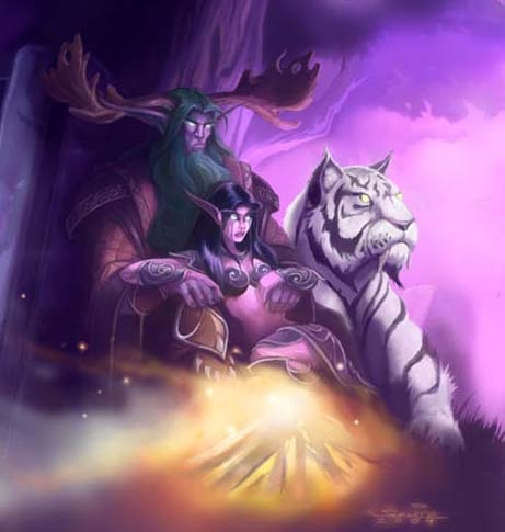 Tyrande Whisperwind and Malfurion Stormrage