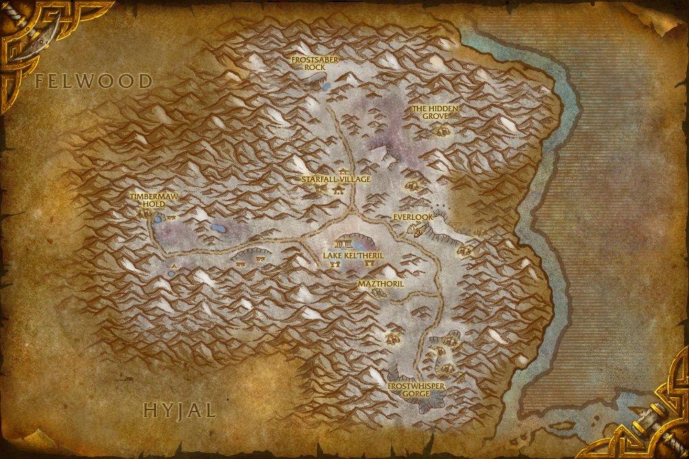The hidden reef world of warcraft map.