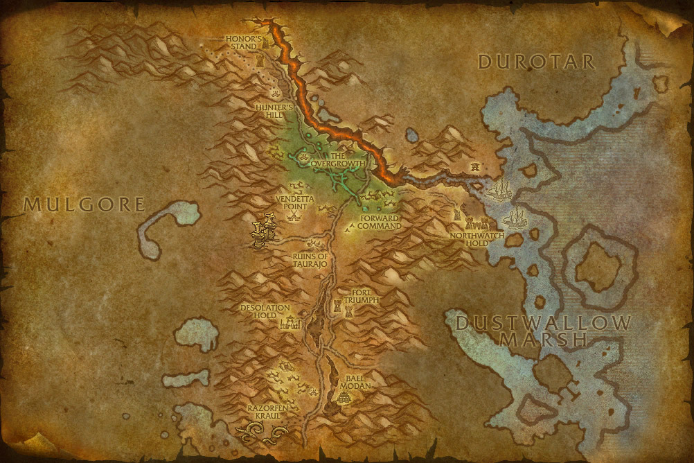 World Of Warcraft Map Cata. Vendetta Point for Cata.