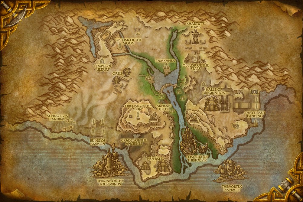 world of warcraft map level ranges. level 82-84, [77, 84]