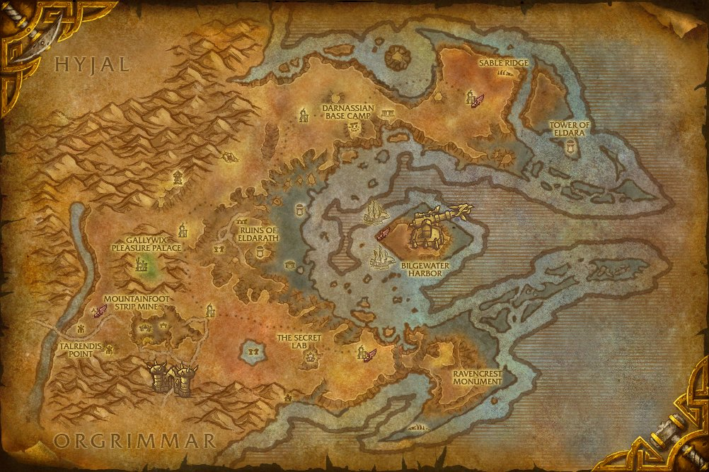 World of warcraft cataclysm map changes.
