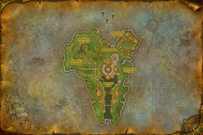 Map of the Isle of Quel'Danas.