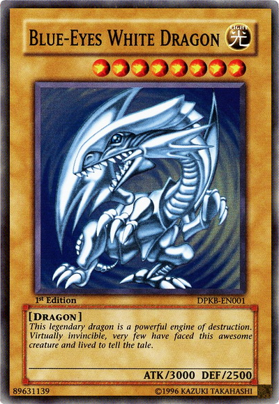 Which is the 3 cards you want to represent the dorms? Blue-Eyes_White_Dragon