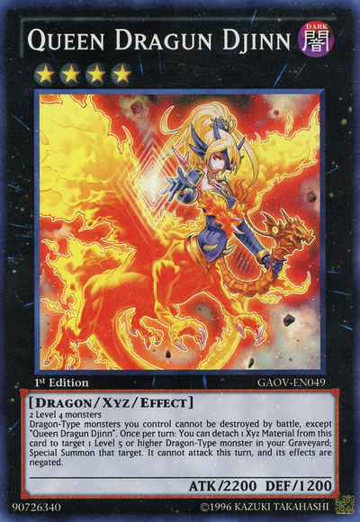 What are your favourite Yu-Gi-Oh Cards? QueenDragunDjinn-GAOV-EN-SR-1E