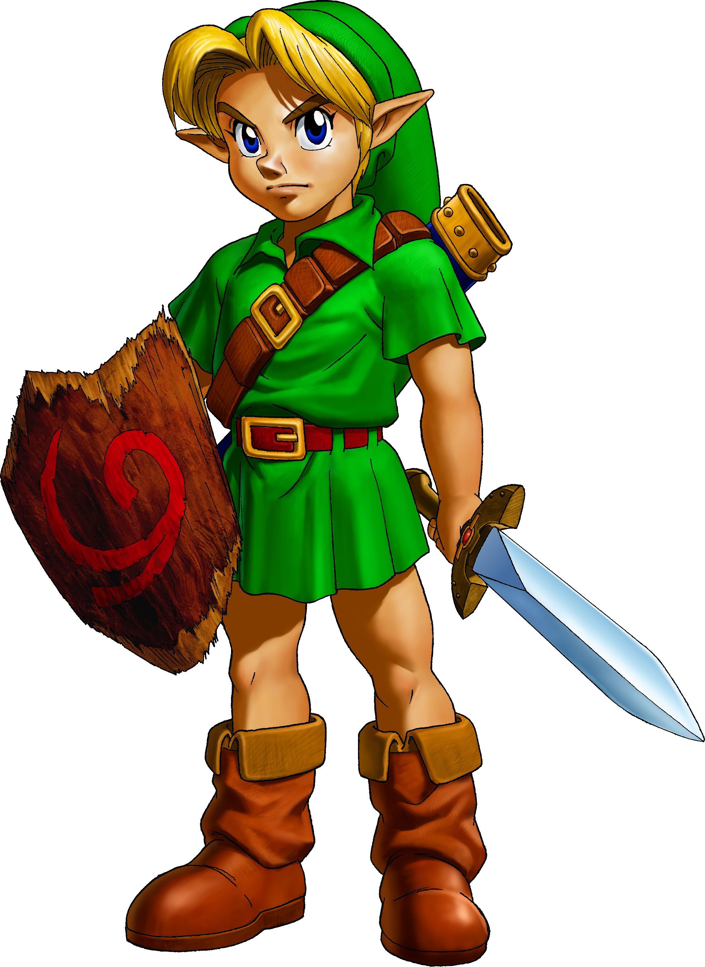 Artwork of Link as a youth
