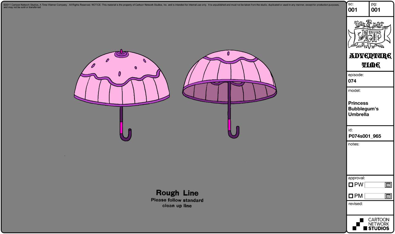 Modelsheet princessbubblegums umbrella