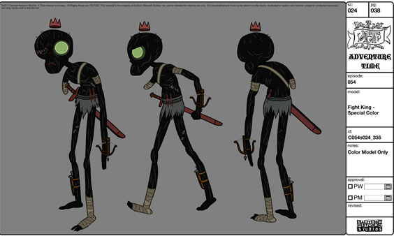 Modelsheet fightking - specialcolor