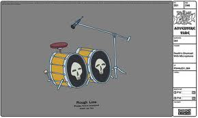 Modelsheet deaths drumsetwithmicrophone
