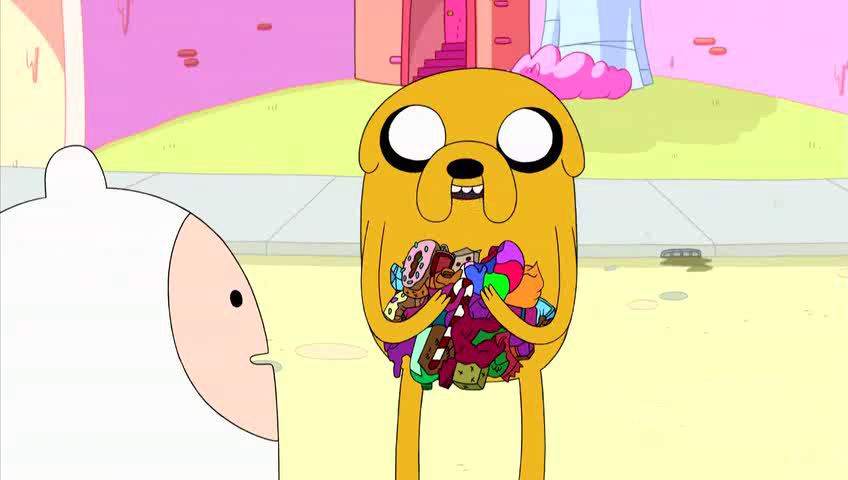 S4e8 Jake with candy litter