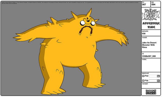 Modelsheet Jake as Desert Monster with Rims