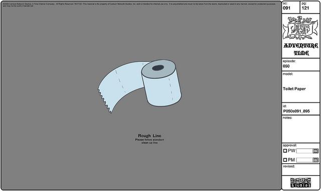 Modelsheet toiletpaper