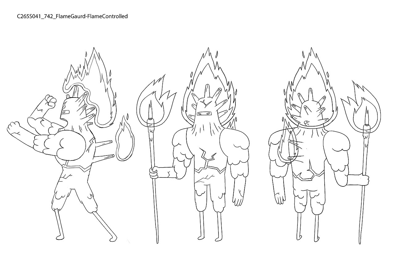 S8E21 Flame Guard by character & prop designer Nooree Kim