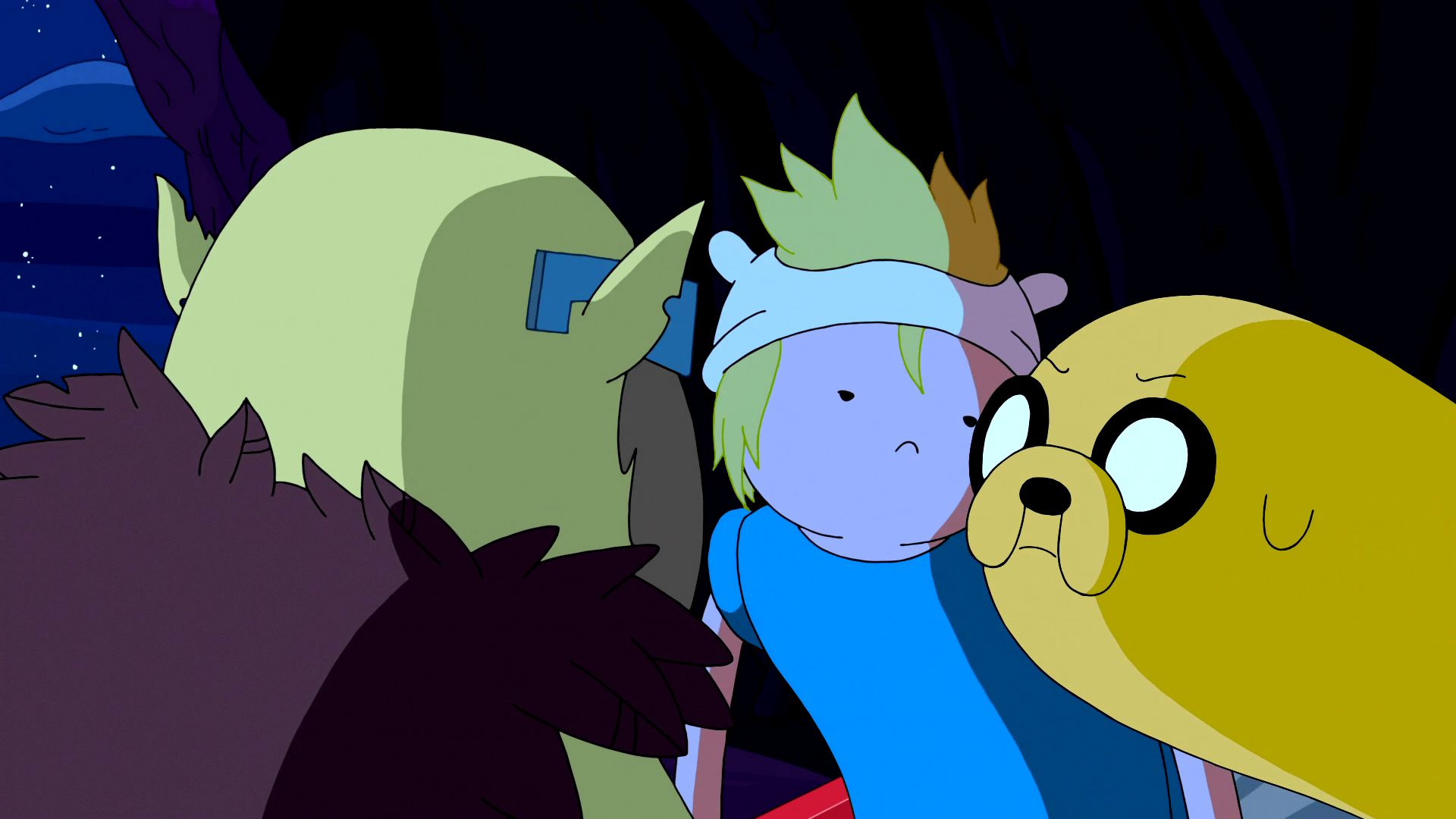 S5e13 Finn and Jake with Xergiok