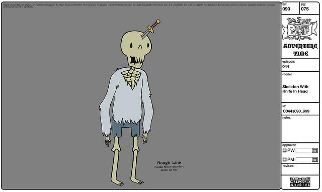 Modelsheet skeleton withknifeinhead