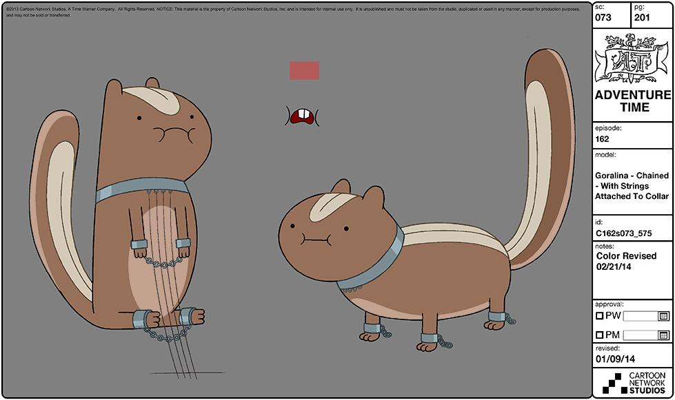 Modelsheet goralina - chained - withstringsattachedtocollar