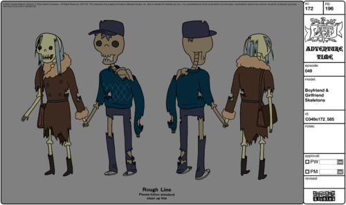 Modelsheet boyfriendgirlfriend skeletons