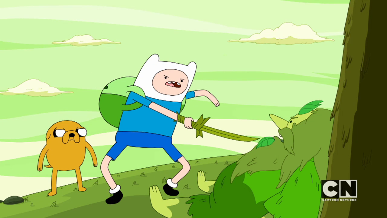 S05e45 Finn forcing the wizard to lift the curse
