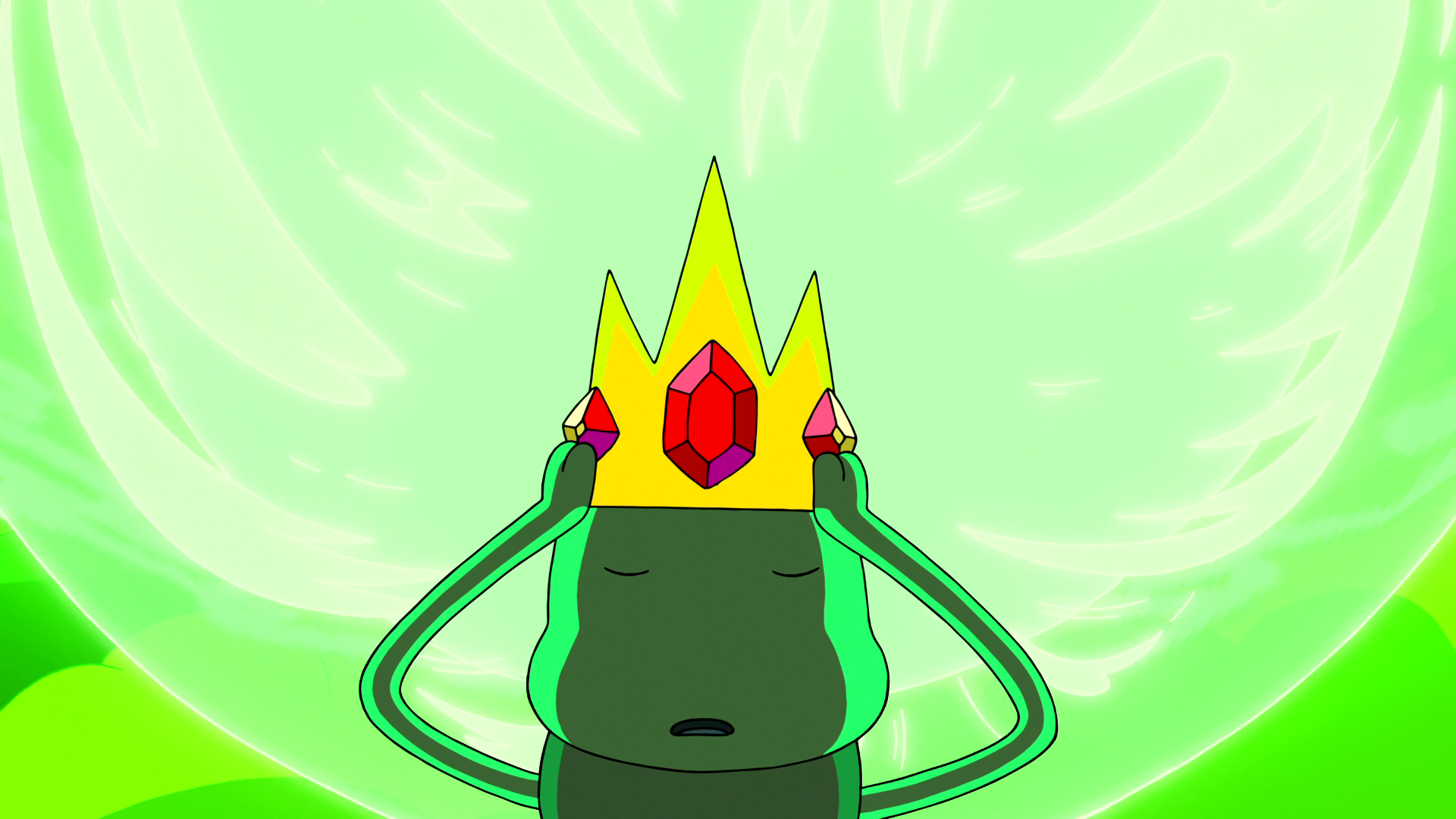 S6e24 Gunther donning crown