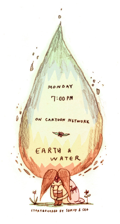 Earth and water promotional art by Seo Kim