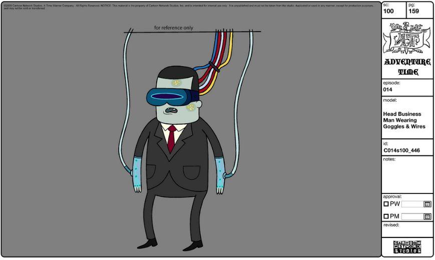 Modelsheet headbusinessman wearinggoggleswires
