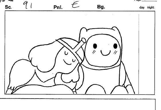 Princess bubblegum leaning on Finn