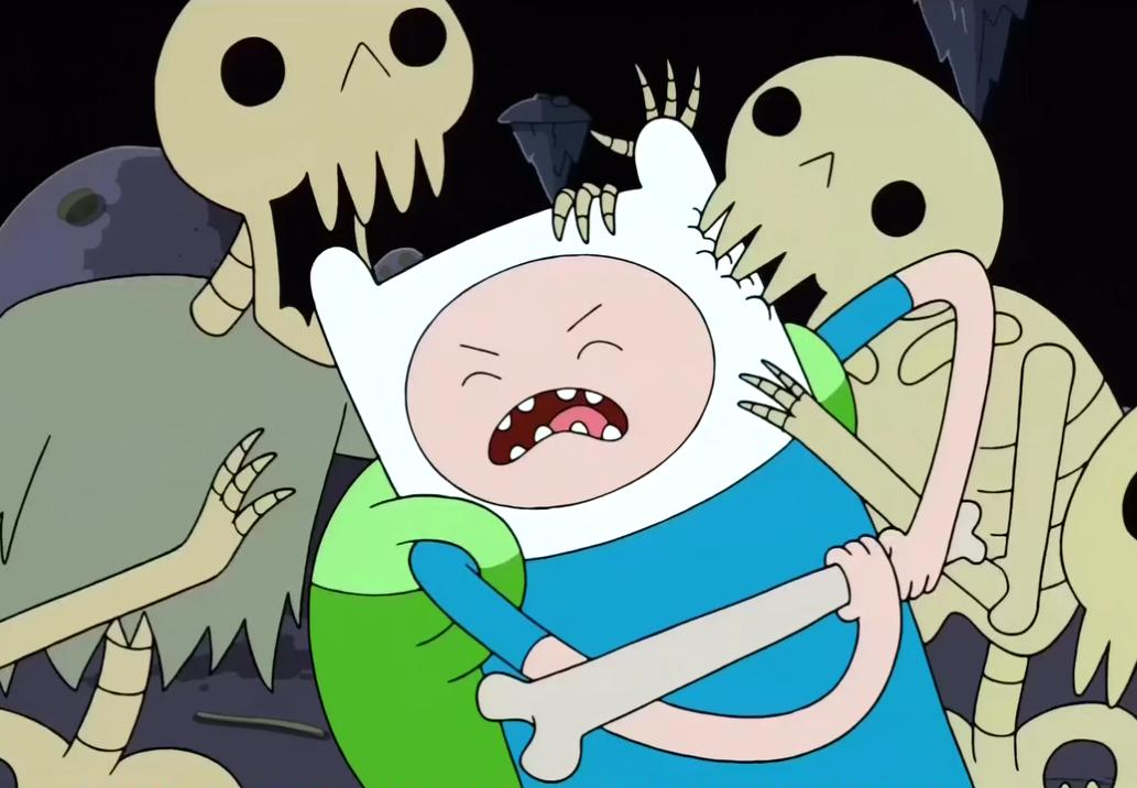 S2e17 skeletons biting finn