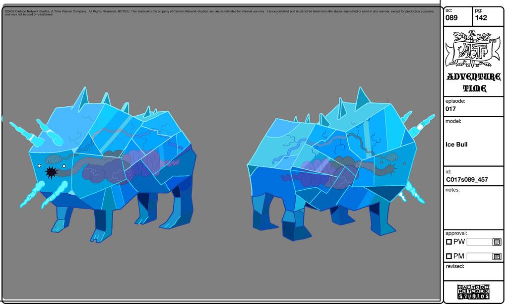 Modelsheet icebull