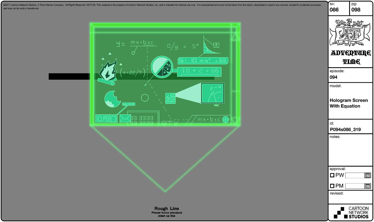 Modelsheet hologramscreenwithequation